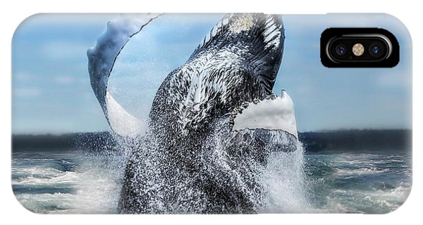 Dances With Whales IPhone Case