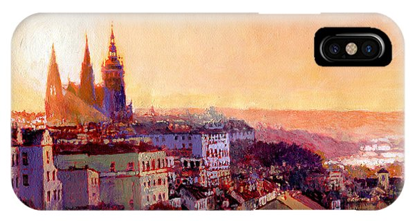 Paper iPhone Case - Sundown Over Prague by Yuriy Shevchuk