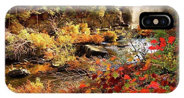 Dead River Falls  Marquette Michigan IPhone Case