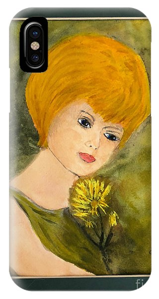 IPhone Case featuring the painting Debbie by Donald Paczynski