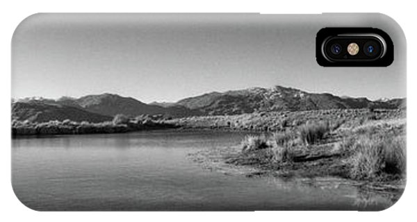 Deer Park Heights In Black And White IPhone Case