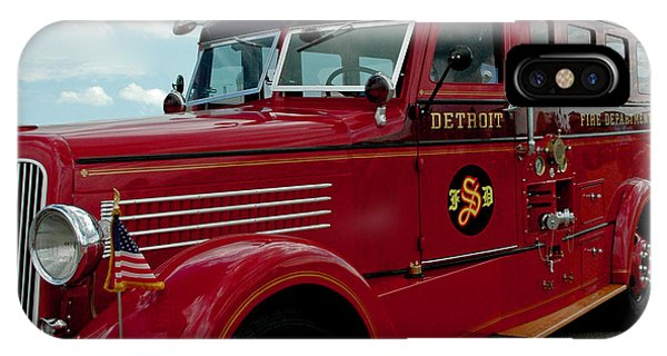 Detroit Fire Truck IPhone Case