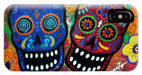 Dia De Los Muertos Couple IPhone Case