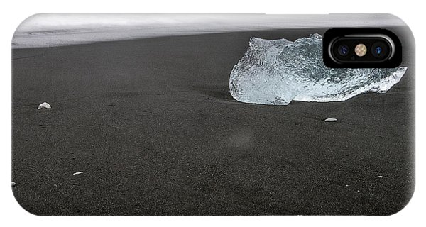 Diamonds Floating In Beaches, Iceland IPhone Case