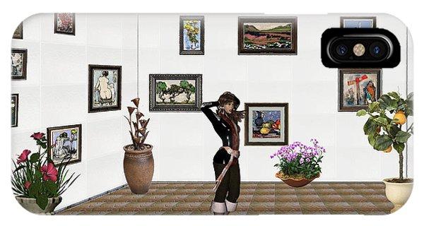 digital exhibition _ Sculpture 1 of girl  IPhone Case
