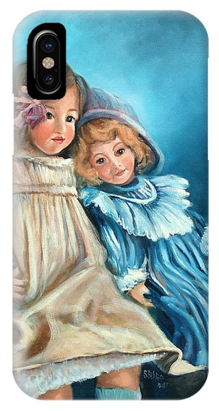 Dolls At Rest Phone Case by Sally Seago