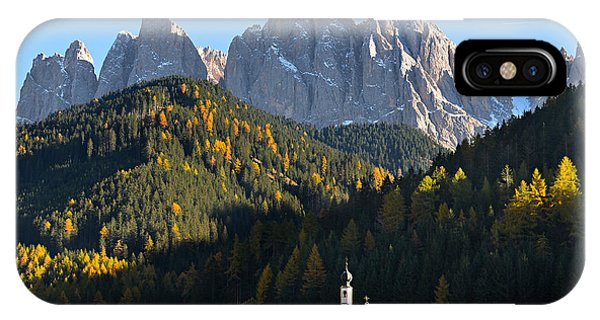 Dolomites Mountain Church IPhone Case