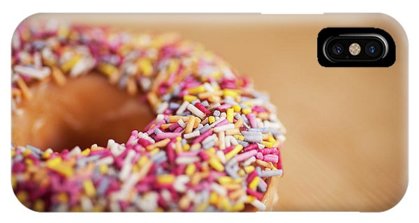 Cake iPhone Case - Donut And Sprinkles by Samuel Whitton