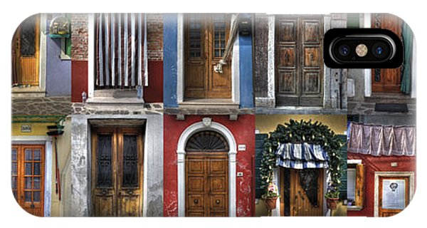 doors and windows of Burano - Venice IPhone Case
