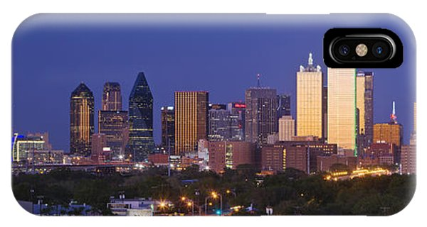 Exterior iPhone Case - Downtown Dallas Skyline At Dusk by Jeremy Woodhouse