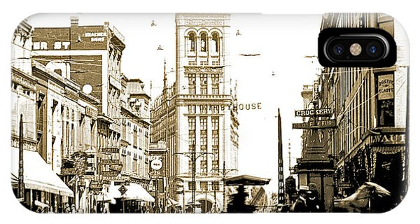 Downtown Milwaukee, C. 1915-1920, Vintage Photograph IPhone Case