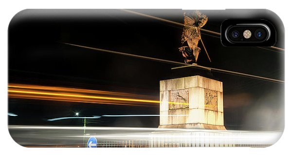Drake's Statue Traffic Trails Iv IPhone Case