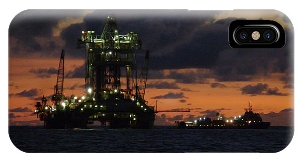 Drill Rig At Dusk IPhone Case