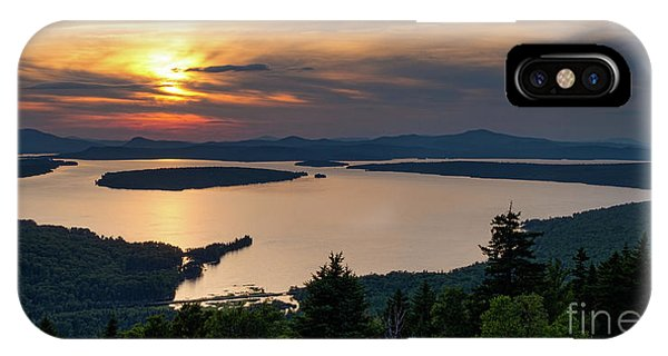 Dusk, Mooselookmeguntic Lake, Rangeley, Maine  -63362-63364 IPhone Case