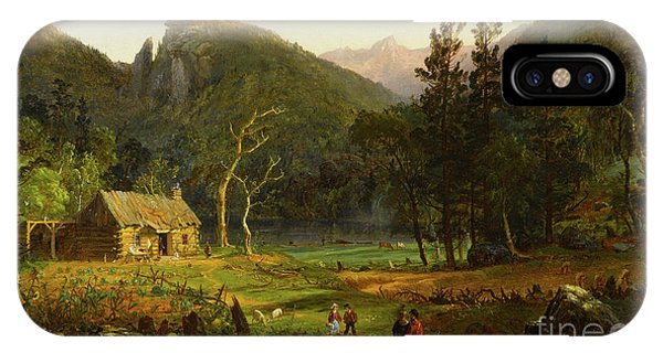 New England Barn iPhone Case - Eagle Cliff, Franconia Notch, New Hampshire by Jasper Francis Cropsey