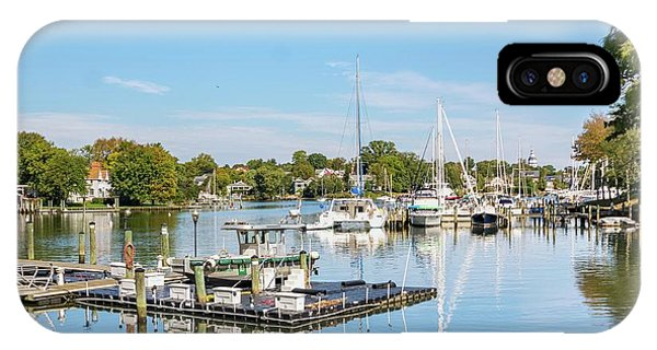 Early Fall Day On Spa Creek IPhone Case