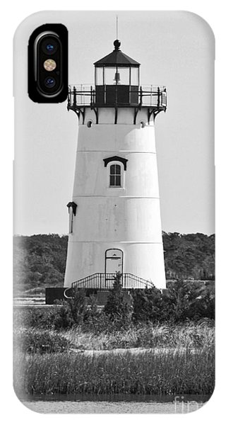iPhone Case - Edgartown Lighthouse Black And White by Carol Groenen