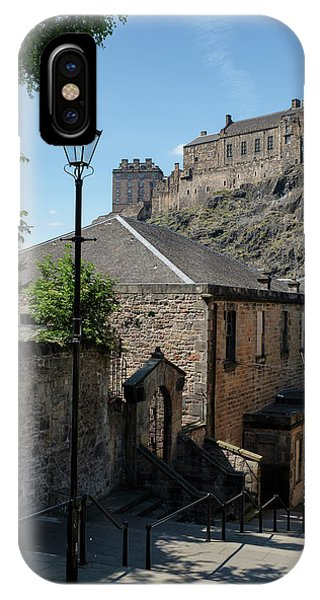 IPhone Case featuring the photograph Edinburgh Castle In Scotland by Jeremy Lavender Photography