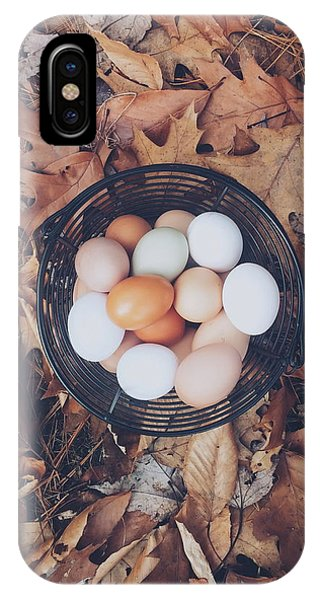 Autumn iPhone X Case - Eggs by Happy Home Artistry