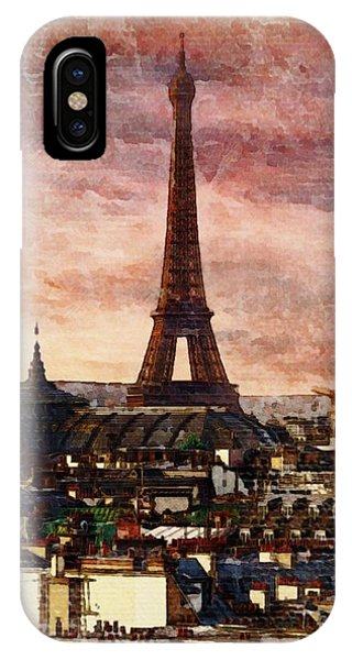 Paris Metro iPhone Case - Eiffal Tower, Paris, France by Sarah Kirk