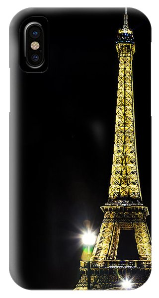 Eiffel At Night Phone Case by Andrew Soundarajan