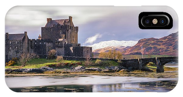 Eilean Donan Castle, Dornie, Kyle Of Lochalsh, Isle Of Skye, Scotland, Uk IPhone Case