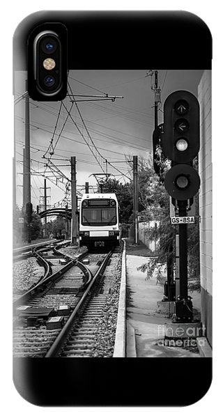Electric Commuter Train In Bw IPhone Case