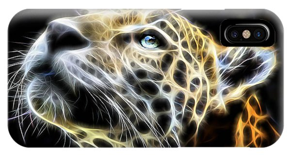 Electric Leopard Wall Art Collection IPhone Case