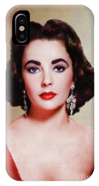 Elizabeth Taylor Hollywood Actress IPhone Case