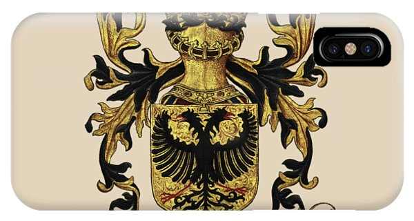 Supply iPhone Case -  Emperor Of Germany Coat Of Arms - Livro Do Armeiro-mor by Serge Averbukh