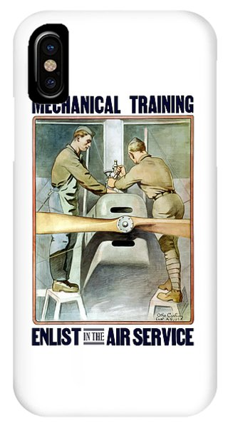 Mechanical Training - Enlist In The Air Service IPhone Case