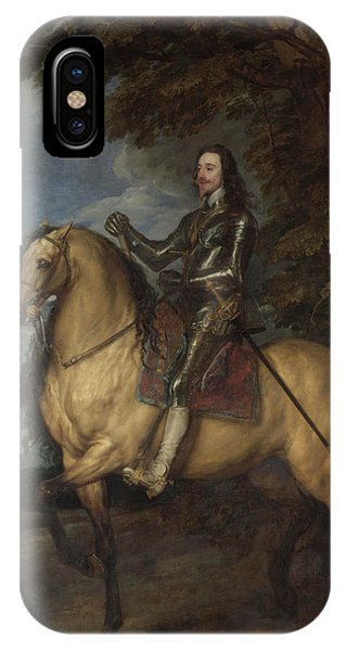 King Charles iPhone Case - Equestrian Portrait Of Charles I by Anthony van Dyck