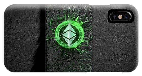 Virtual iPhone Case - Ethereum Classic Cloner Smartphone by Allan Swart