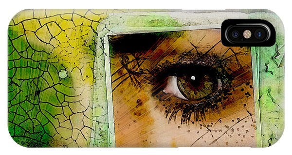 IPhone Case featuring the digital art Eye, Me, Mine by Richard Ricci