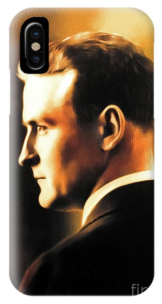 Prime Minister iPhone Case - F. Scott Fitzgerald, Literary Legend by John Springfield