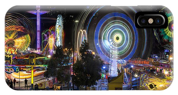 IPhone Case featuring the photograph Fairground Attraction Panorama by Ray Warren