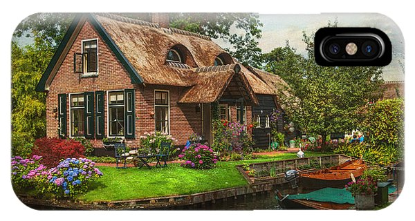 Fairytale House. Giethoorn. Venice Of The North IPhone Case