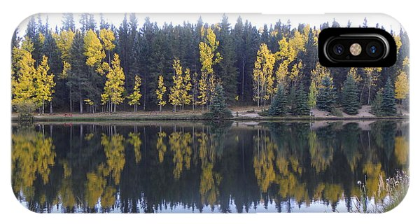 Potty Pond Reflection - Fall Colors Divide Co IPhone Case