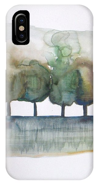 Abstract Landscape iPhone Case - Family Trees by Vesna Antic