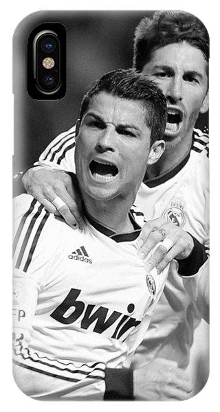 Cristiano Ronaldo iPhone Case - Cristiano Ronaldo 12 by Rafa Rivas