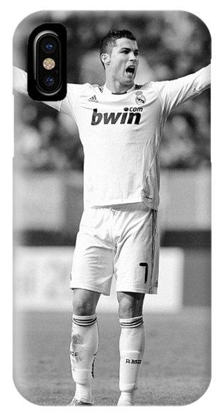 Cristiano Ronaldo iPhone Case - Cristiano Ronaldo 24 by Rafa Rivas