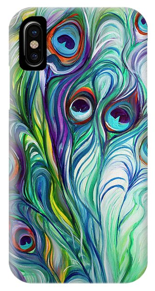 Feathers Peacock Abstract IPhone Case