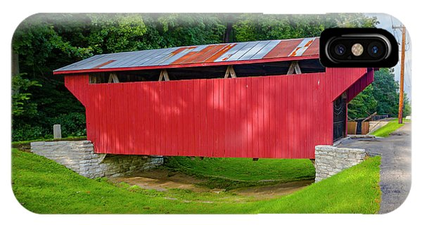 Feedwire Covered Bridge - Carillon Park Dayton Ohio IPhone Case
