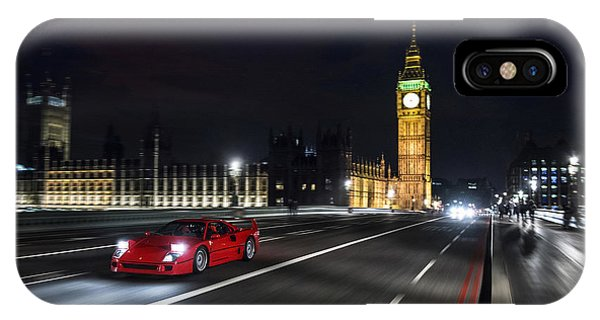 Ferrari F40 London IPhone Case