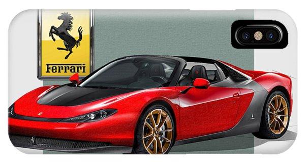 Artwork iPhone Case - Ferrari Sergio With 3d Badge  by Serge Averbukh