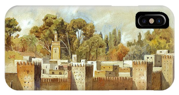 Fes Morocco Orientalist Painting Phone Case by Juan  Bosco