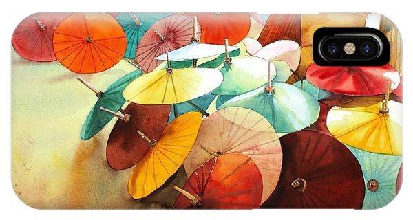 Festive Umbrellas IPhone Case