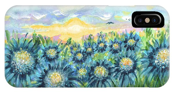 Field Of Blue Flowers IPhone Case