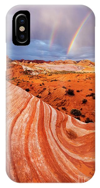Valley Of Fire iPhone Case - Fire Wave Miracle by Mike Dawson