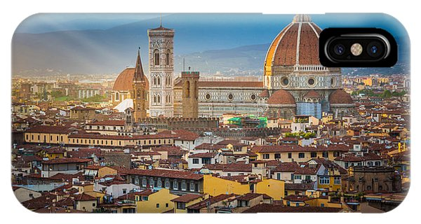 Italy iPhone Case - Firenze Duomo by Inge Johnsson